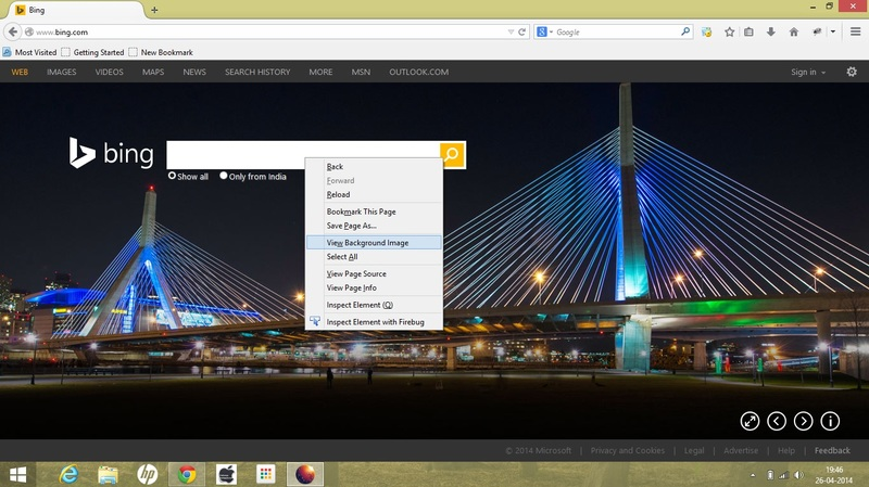 3 Ways/Tricks To Download Bing Image Of The Day On Your PC